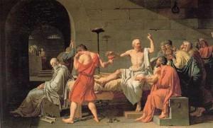 A Morte de Sócrates. Quadro de David, concluido em 1787