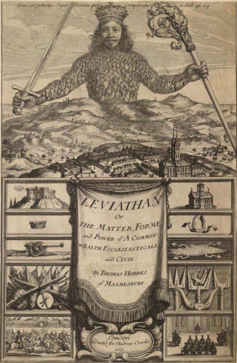 O leviatã desenhado por Abraham Bosse para Hobbes