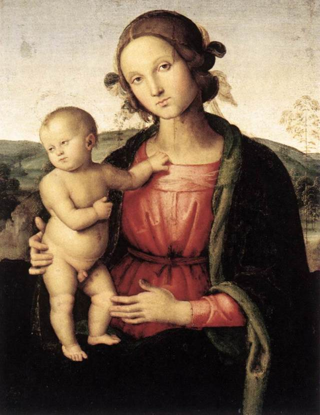 Pietro_Perugino_-_Madonna_and_Child_-_WGA17296