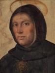 Santo Tomás de Aquino, o mais influente pensador da Idade Média. Fonte da imagem: pt.wikipedia.org/wiki/Ficheiro:Thomas_Aquinas_by_Fra_Bartolommeo.jpg
